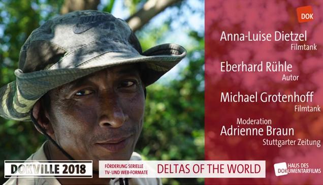 """DOKVILLE 2018: Plakat zu Panel über """"Deltas of the World"""" (© HDF)"""
