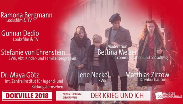 """DOKVILLE 2018: Plakat zu Panel über """"Der Krieg und ich"""" (© HDF)"""