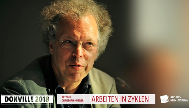 DOKVILLE 2018: Plakat zu Keynote Christoph Hübner (© HDF)