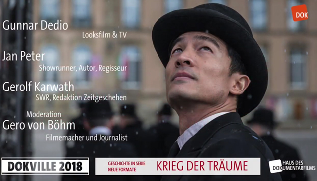 """DOKVILLE 2018: Plakat zu Panel """"Krieg der Träume"""" (© HDF)"""