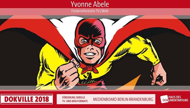 """DOKVILLE 2018: Plakat zu Panel über """"Medienboard Berlin-Brandenburg"""" (© HDF)"""