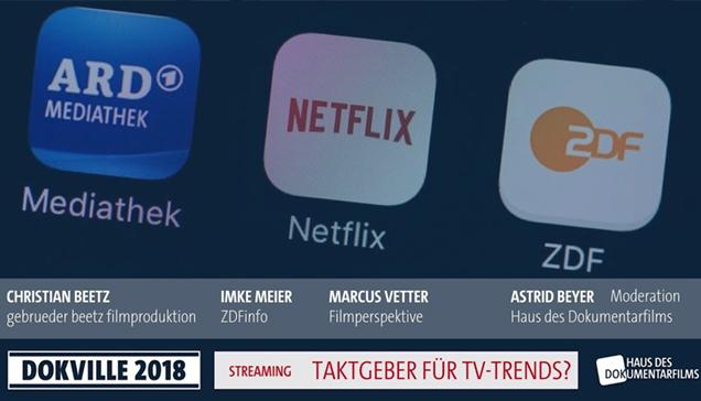 "DOKVILLE 2018: Plakat zu Panel ""Streaming"" (© HDF)"
