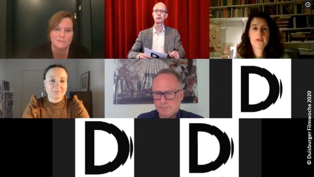Duisburger Filmwoche 2020 digital: Bild einiger Teilnehmer der virtuellen Dokuserien-Konferenz (Foto: Duisburger Filmwoche)