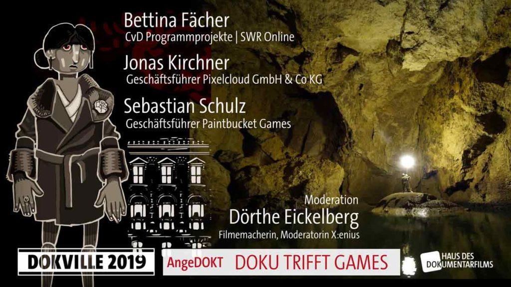 Gamesbranche: Doku trifft Games als Panel bei Dokville 2019