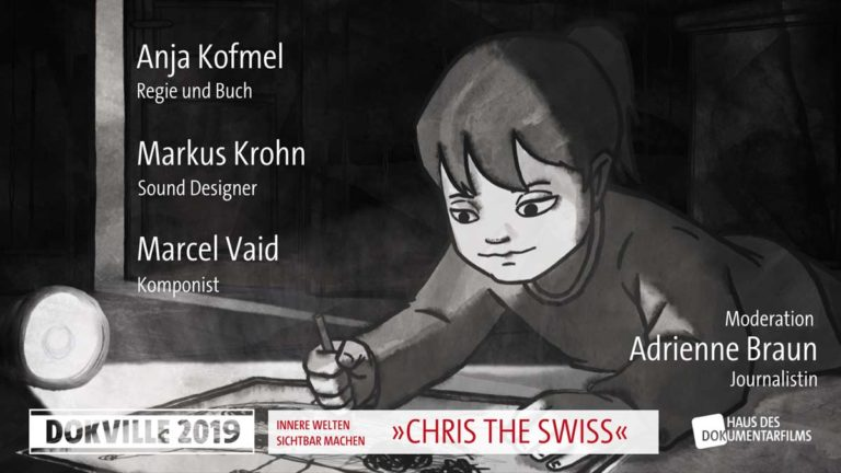 "Poster zum Panel ""Chris The Swiss"" bei Dokville 2019 © HDF"