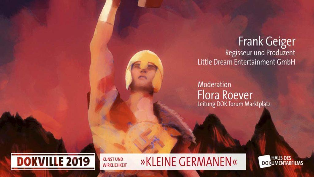 """Poster zum Panel """"Kleine Germanen"""" bei Dokville 2019 © HDF"""