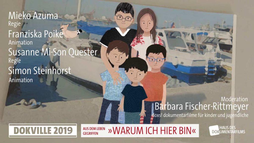 """Poster zum Panel """"Warum ich hier bin"""" bei Dokville 2019 © HDF"""