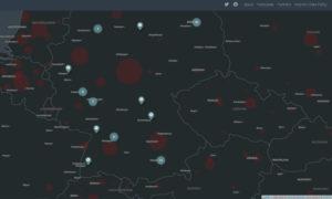 Karte des Dokumentationsprojekts Coronography
