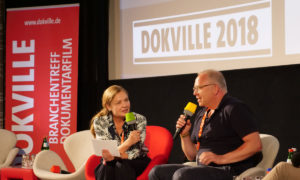 DOKVILLE 2018: Panel Streaming – Astrid Beyer im Gespräch mit Christian Beetz (© Sabine Hackenberg/HDF)